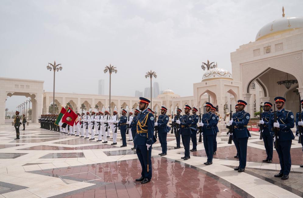 مراسم استقبال الرئيس الأفغانى