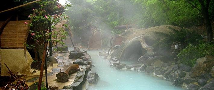 ينابيع المياه الساخنة فى اليابان