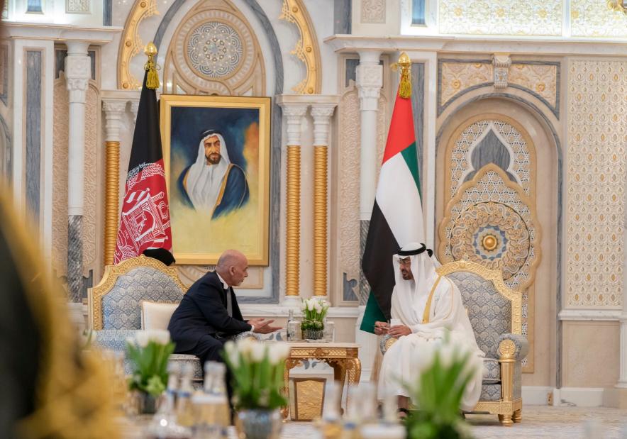 مباحثات ثنائية بين بن زايد والرئيس الأفغانى