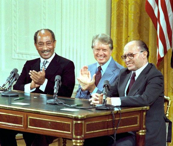 جانب من توقيع معاهدة كامب ديفيد
