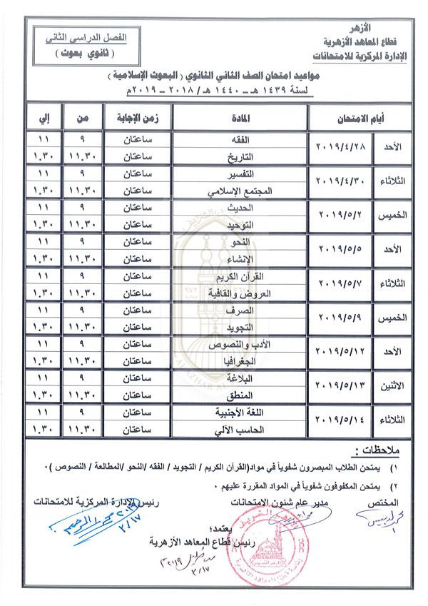 الثاني الثانوي بعوث إسلامية الفصل الدراسي الثاني 2018-2019.jpg