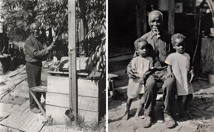 كودجو لويس مع أطفاله