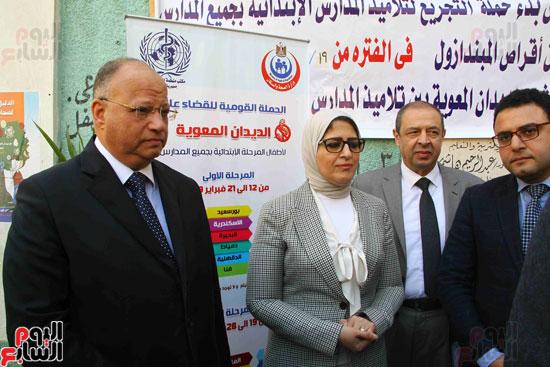 وزيرة الصحة تطلق حملة القضاء على الديدان  (15)