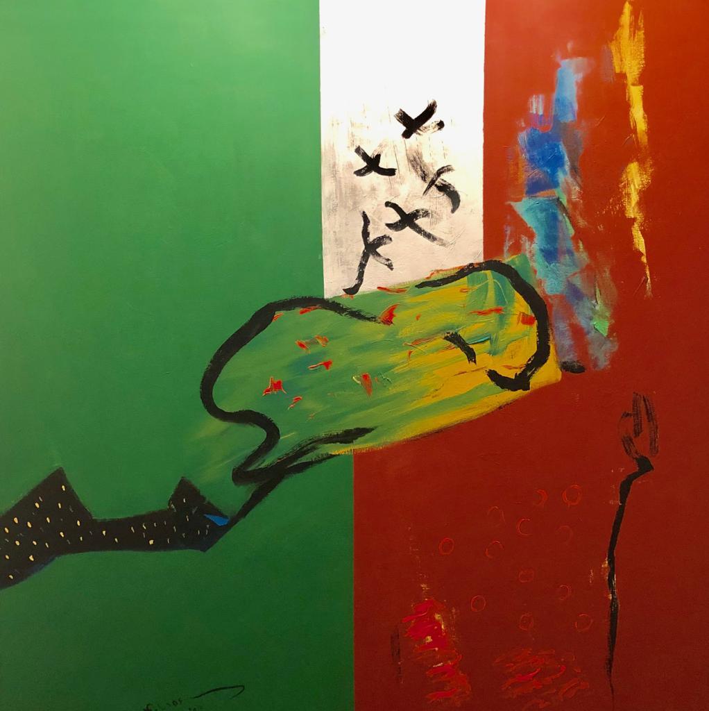 لوحة فاروق حسني المهداة للإمارات (1)