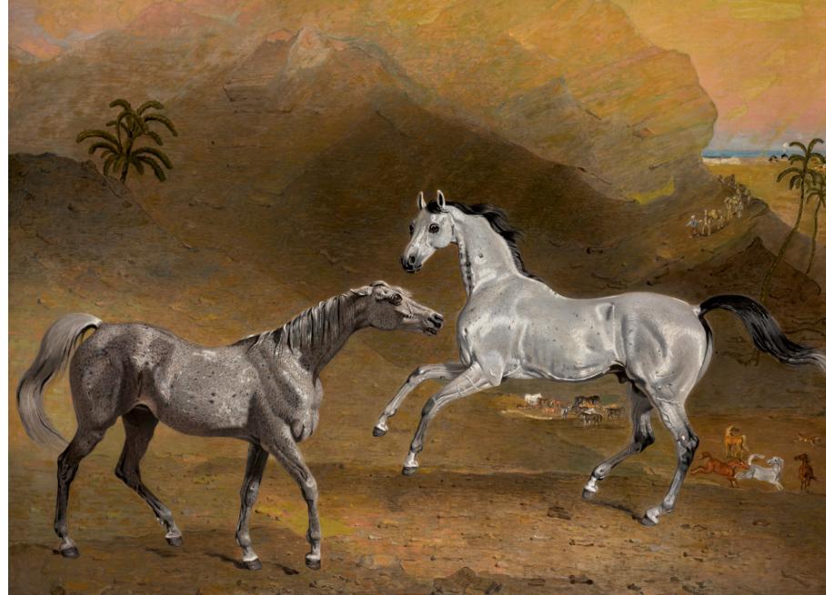 لوحة الخيول