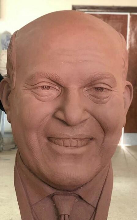 تمثال مجدى يعقوب من تصميم مجدى سالم