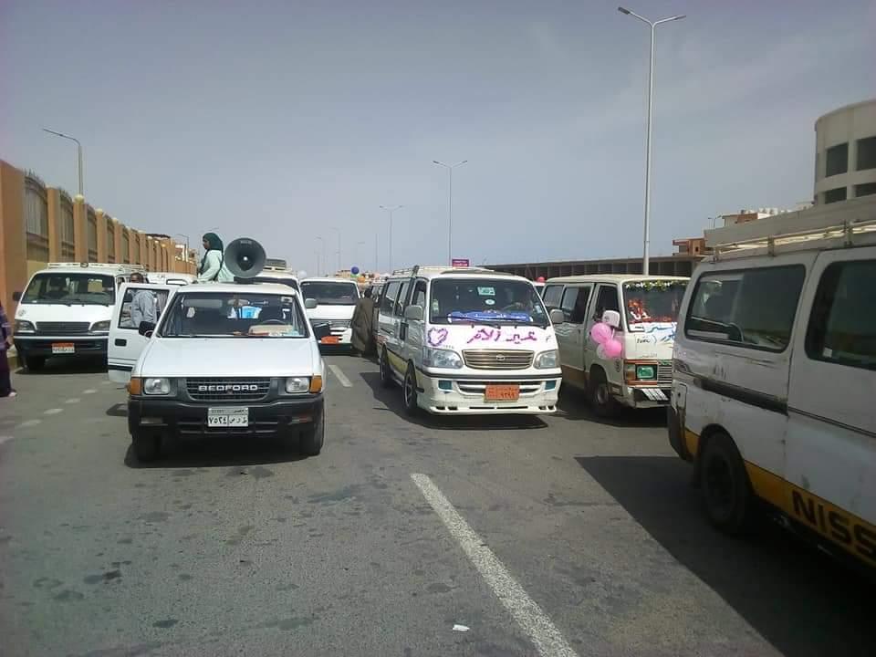 مسيرة بالسيارات تجوب شوارع مدينة القصير أحتفالاً بعيد الأم (6)