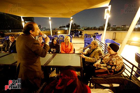 الصحفيون يحتفلون بزواج حسين قدرى (14)