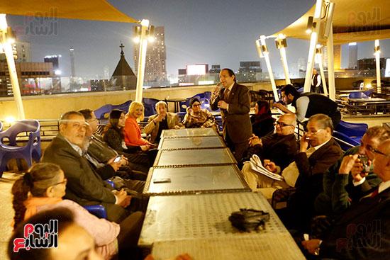 الصحفيون يحتفلون بزواج حسين قدرى (13)