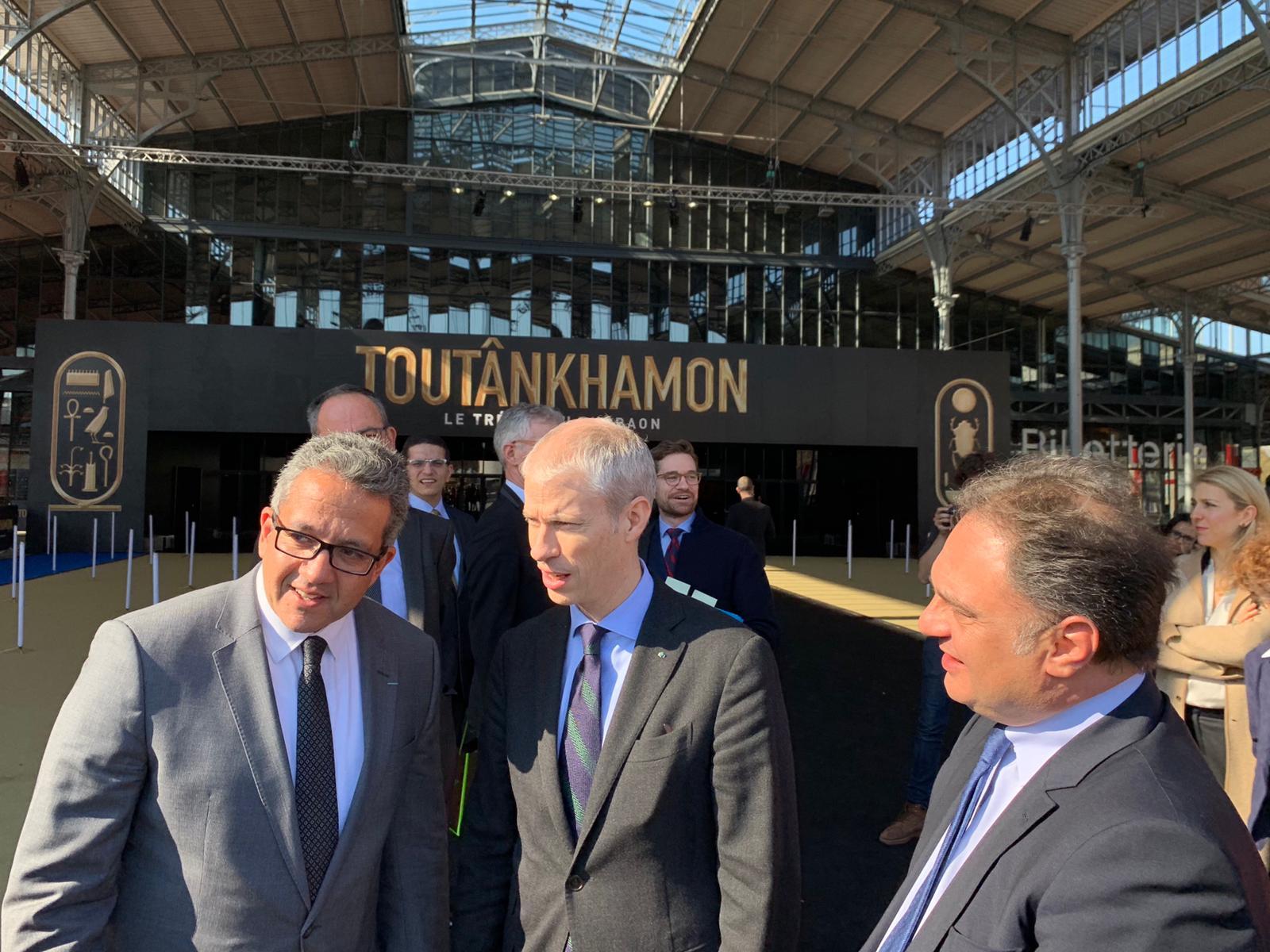 خلال افتتاح معرض توت عنخ آمون (1)