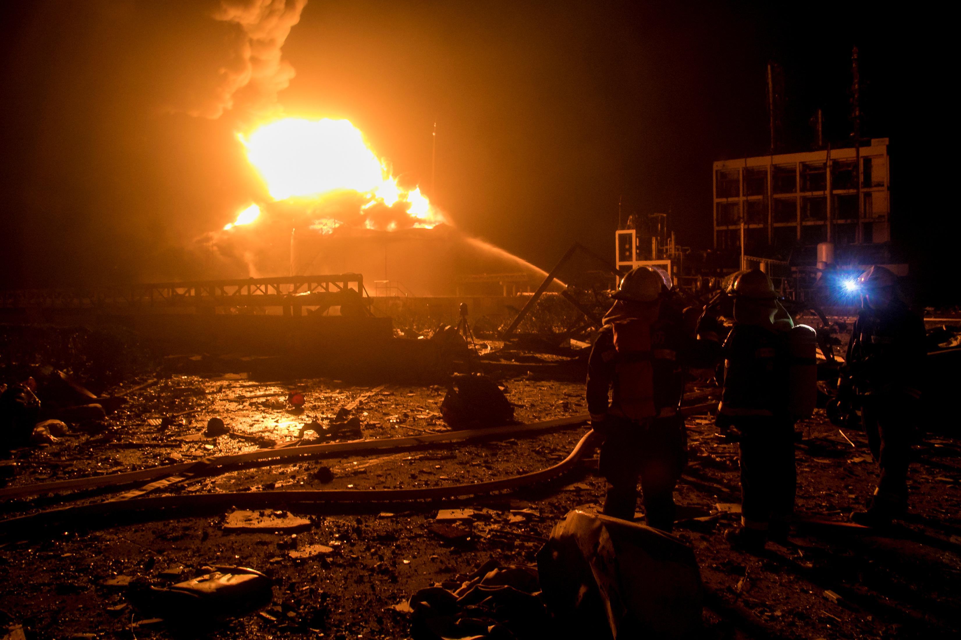 جانب من الحريق الضخم فى الصين (1)