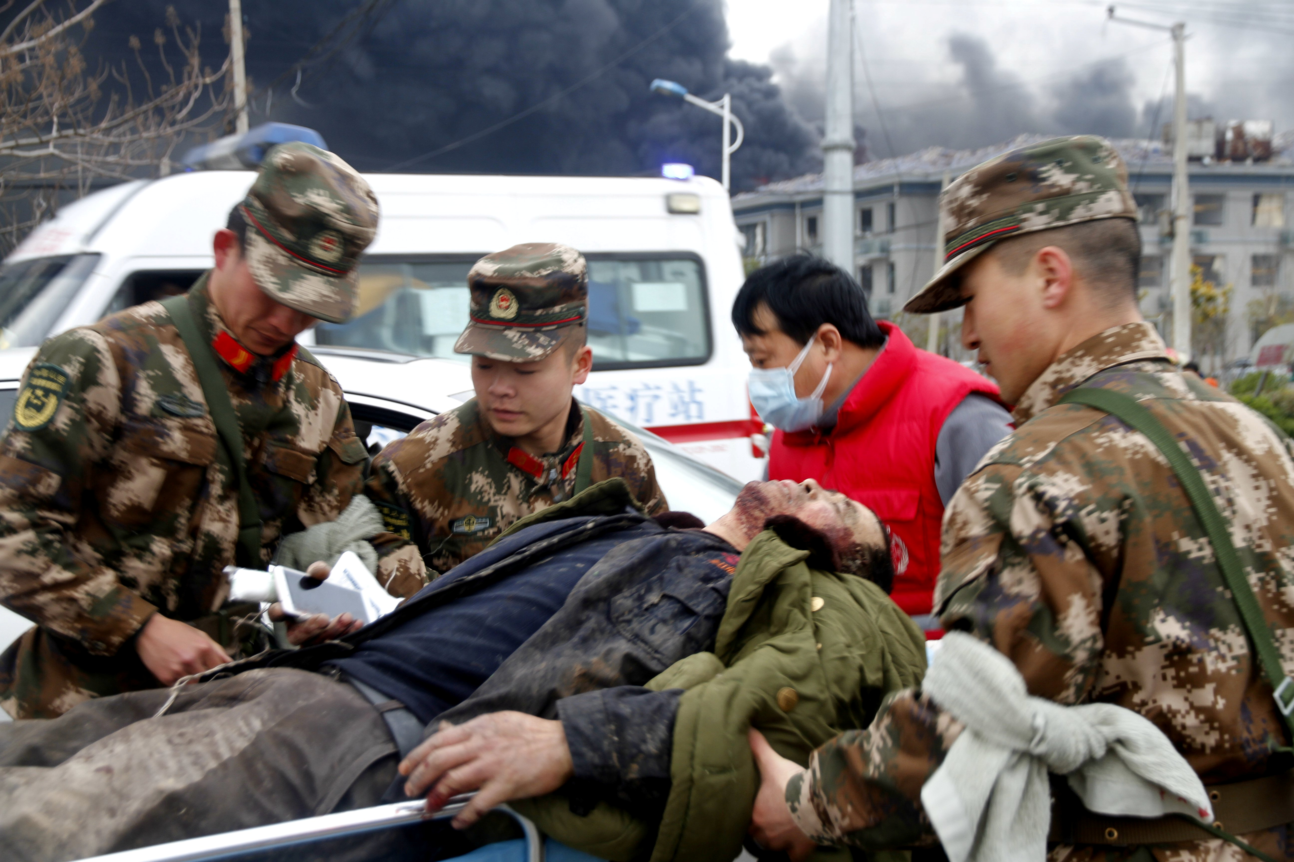 جانب من الحريق الضخم فى الصين (9)