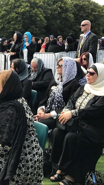 وزيرة الهجرة المصرية تشارك فى الجنازة الرسمية لشهداء حادث مسجدى نيوزيلندا (11)