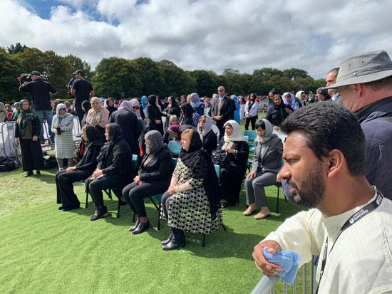 وزيرة الهجرة المصرية تشارك فى الجنازة الرسمية لشهداء حادث مسجدى نيوزيلندا (2)