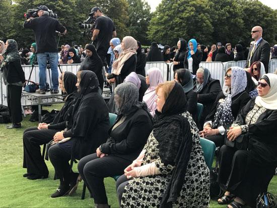 وزيرة الهجرة المصرية تشارك فى الجنازة الرسمية لشهداء حادث مسجدى نيوزيلندا (6)