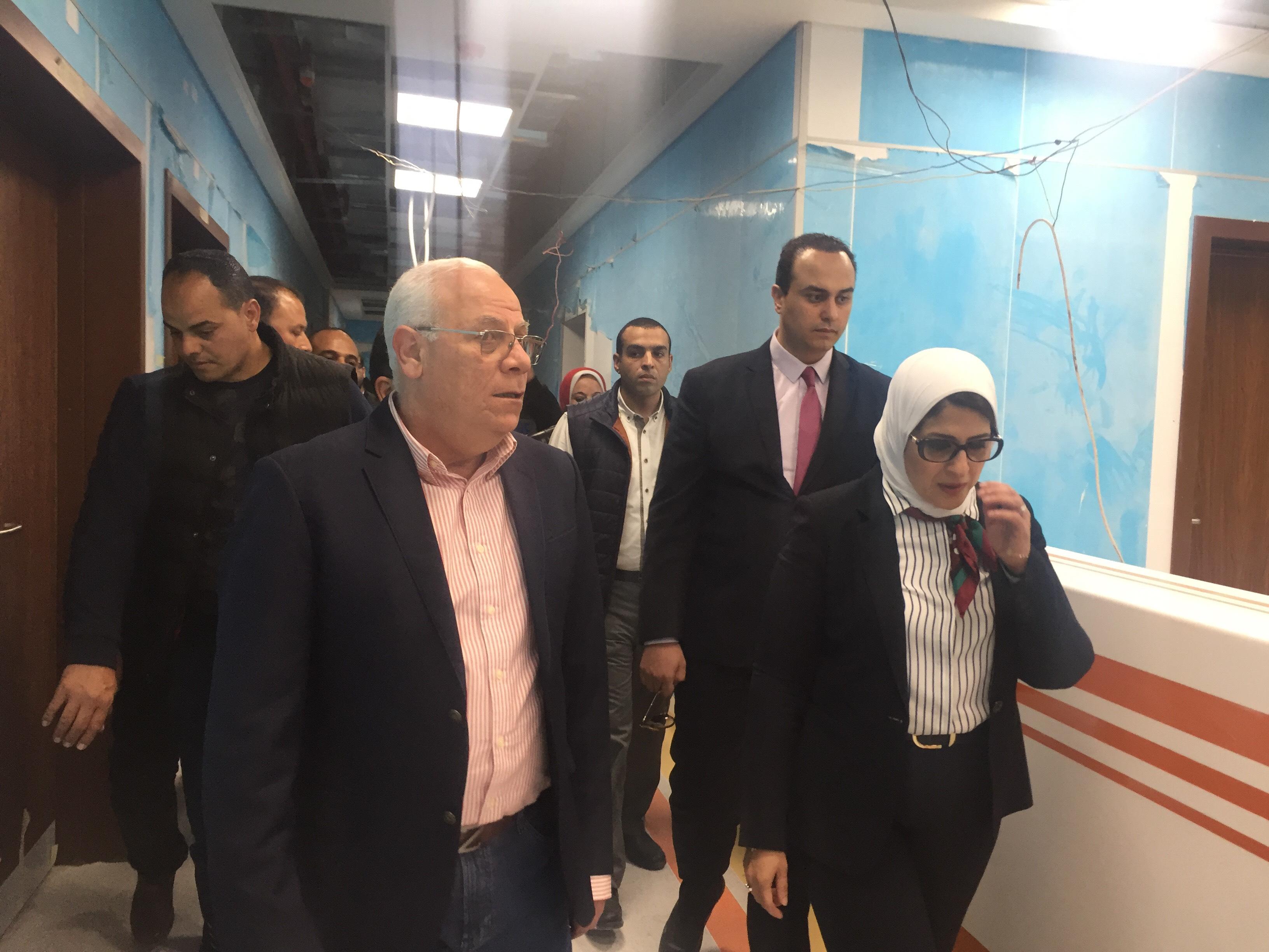 وزيرة الصحة تتفقد مستشفى أطفال النصر (10)