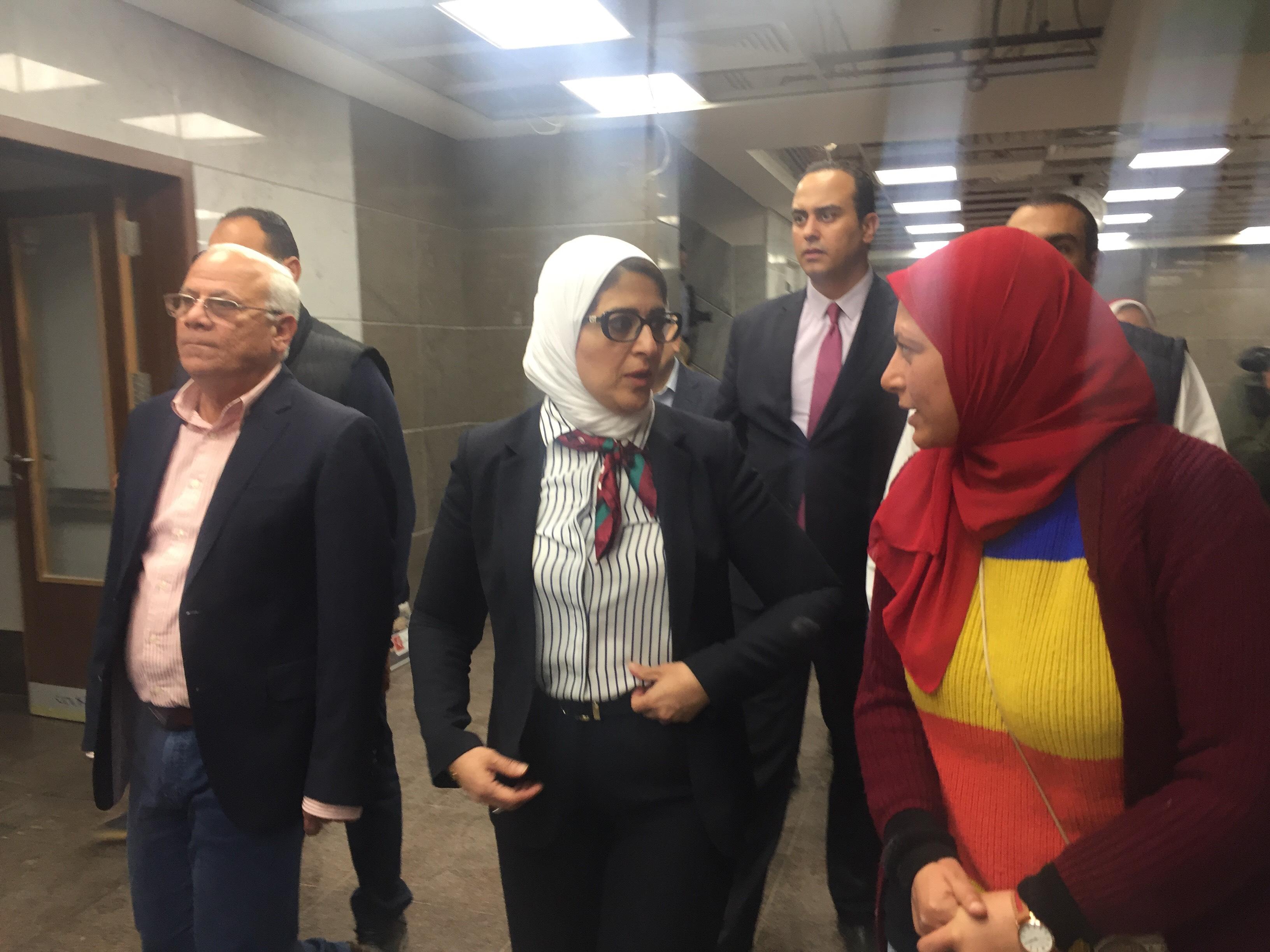 وزيرة الصحة تتفقد مستشفى أطفال النصر (12)
