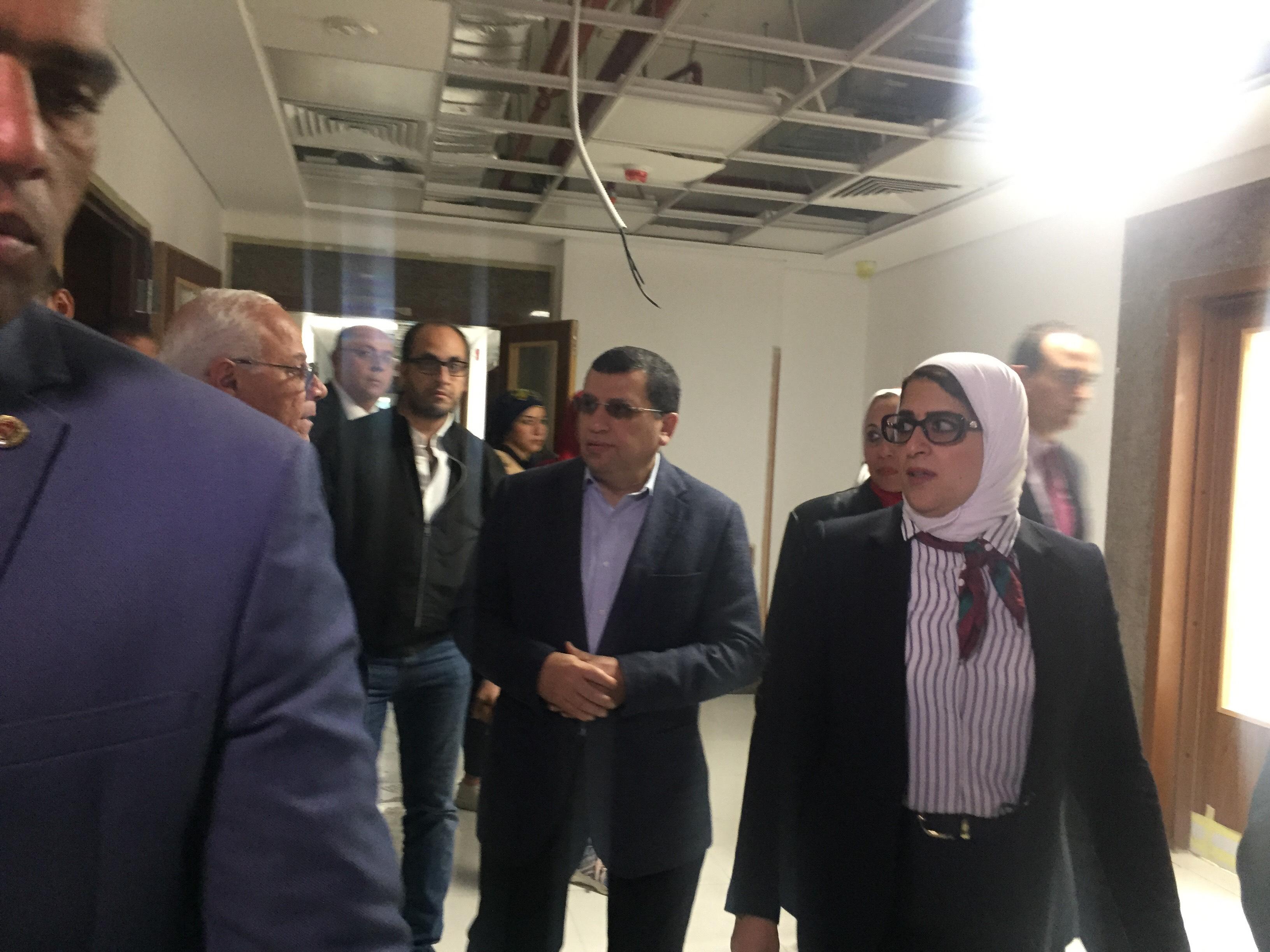 وزيرة الصحة تتفقد مستشفى أطفال النصر (8)
