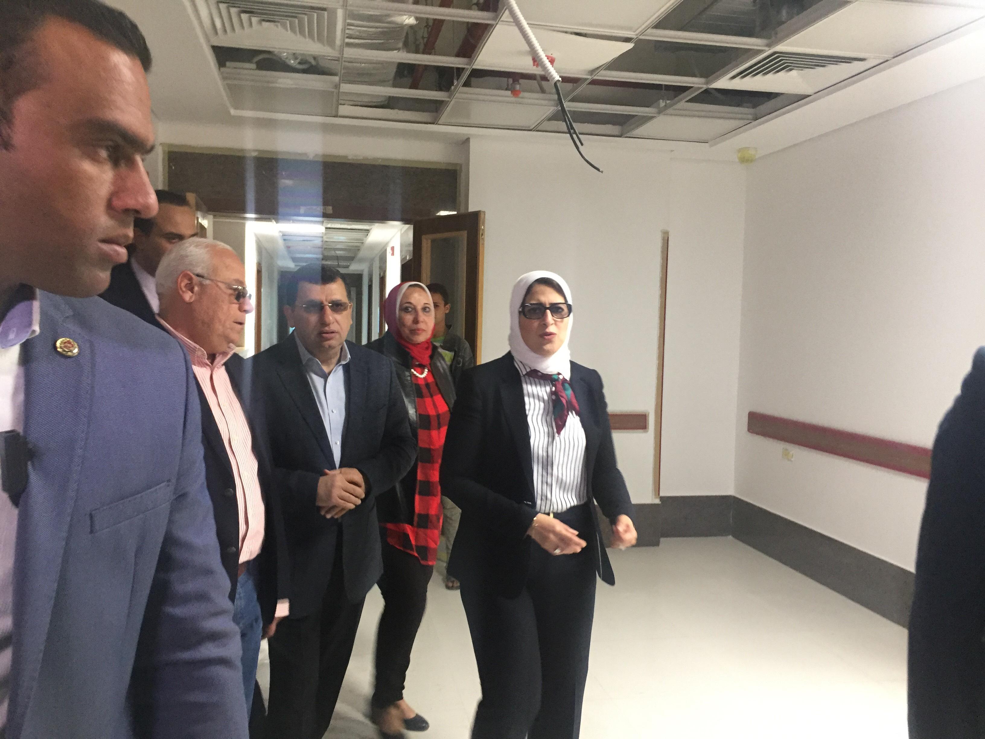 وزيرة الصحة تتفقد مستشفى أطفال النصر (6)