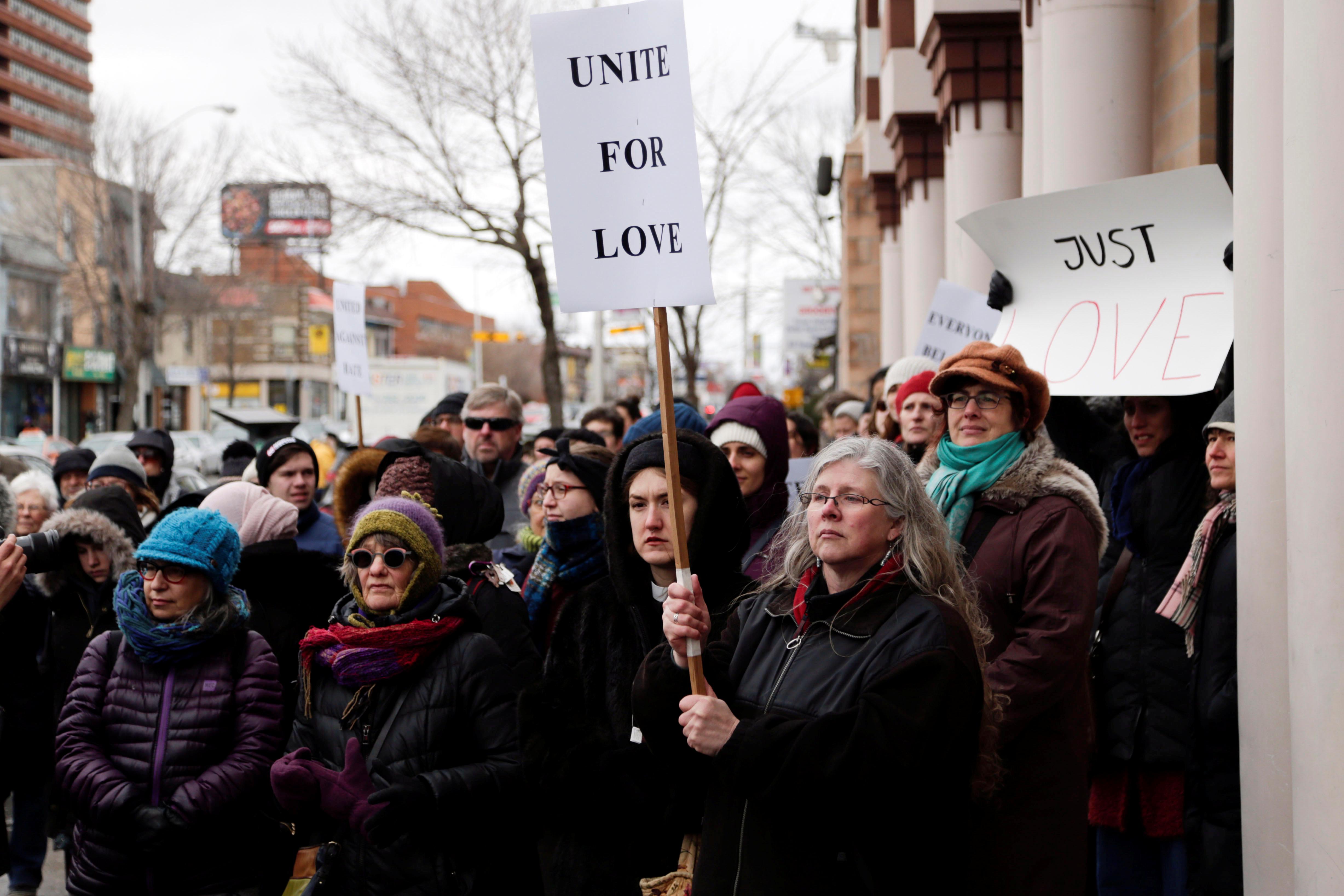 مسيرة فى كندا تضامنا مع ضحايا هجوم المسجدين (1)