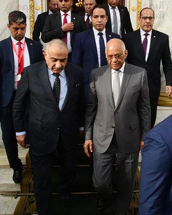 رئيس النواب يستقبل رئيس وزراء العراق بـالبرلمان (13)