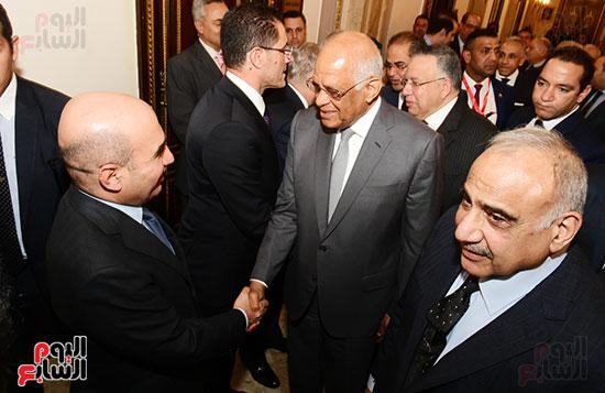 رئيس النواب يستقبل رئيس وزراء العراق بـالبرلمان (6)