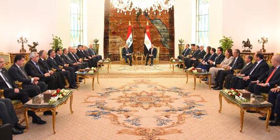 رئيس-وزراء-العراق-فى-لقاء-مع-السيسي-بالاتحادية-(3)
