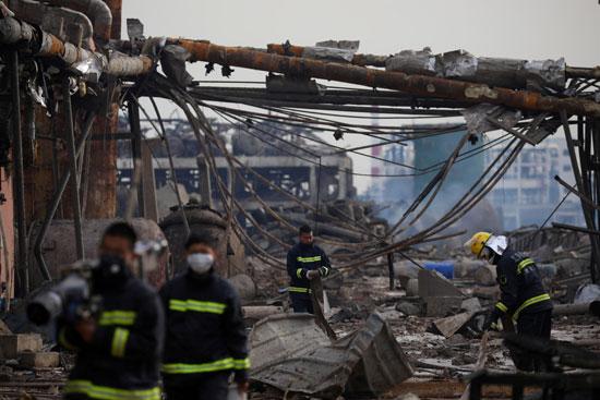 انفجار مصنع كيماويات بالصين (4)