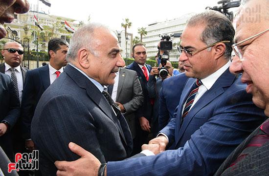 رئيس النواب يستقبل رئيس وزراء العراق بـالبرلمان (4)