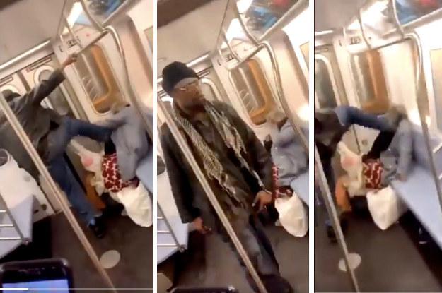 شاب يعتدى على امراة مسنة فى مترو الأنفاق