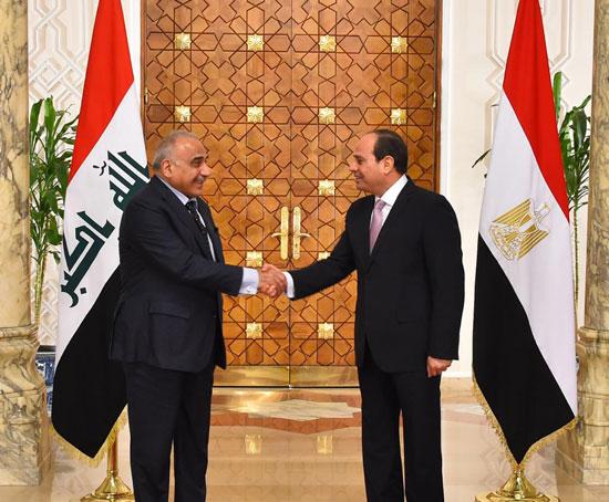 رئيس-وزراء-العراق-فى-لقاء-مع-السيسي-بالاتحادية-(4)