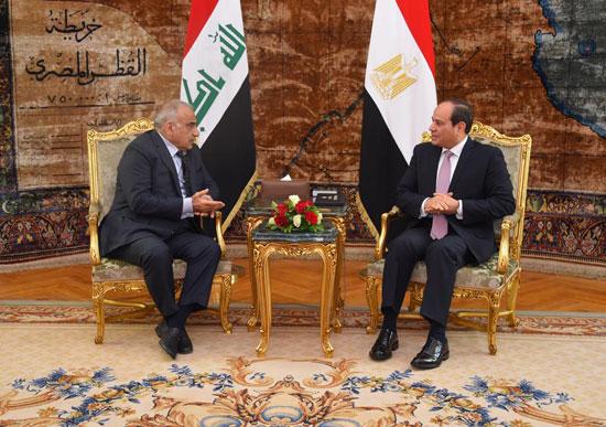 رئيس-وزراء-العراق-فى-لقاء-مع-السيسي-بالاتحادية-(1)
