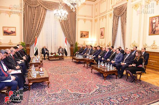 رئيس النواب يستقبل رئيس وزراء العراق بـالبرلمان (10)
