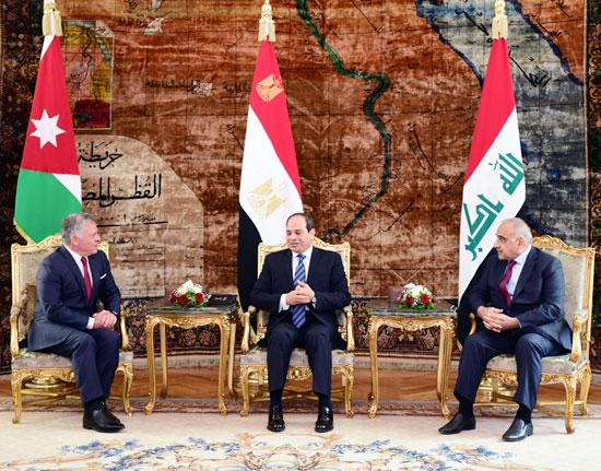 قمة ثلاثية بين زعماء مصر والأردن والعراق لتعزيز التعاون (3)