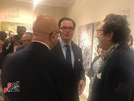 افتتاح معرض الفنانة نازلى مدكور بالزمالك (10)