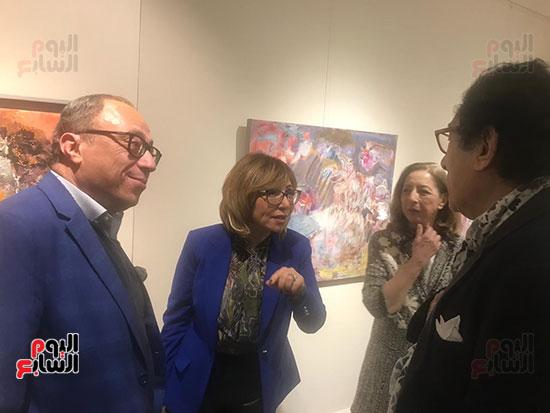 افتتاح معرض الفنانة نازلى مدكور بالزمالك (1)