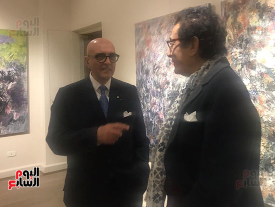 افتتاح معرض الفنانة نازلى مدكور بالزمالك (4)