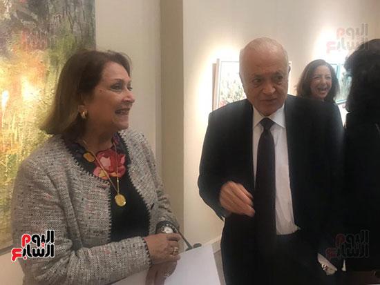افتتاح معرض الفنانة نازلى مدكور بالزمالك (15)