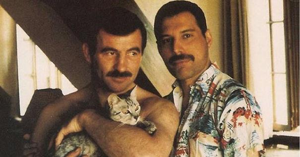 فريدى ميركورى مع قططه  (3)