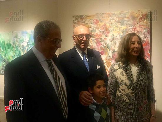 افتتاح معرض الفنانة نازلى مدكور بالزمالك (21)