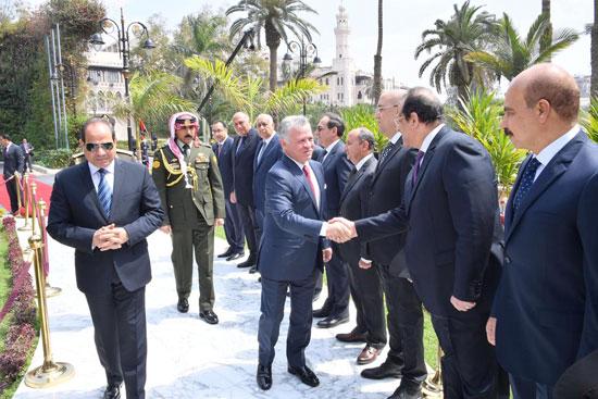 قمة ثلاثية بين زعماء مصر والأردن والعراق لتعزيز التعاون (5)