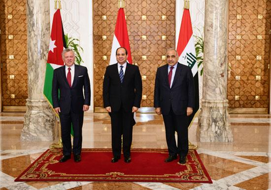 قمة ثلاثية بين زعماء مصر والأردن والعراق لتعزيز التعاون (2)