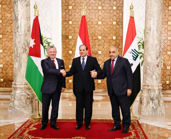 قمة ثلاثية بين زعماء مصر والأردن والعراق لتعزيز التعاون (1)