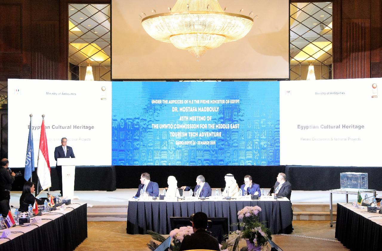 وزير الآثار يشارك فى افتتاح اللجنة الـ 15 لمنظمة السياحة العالمية (2)