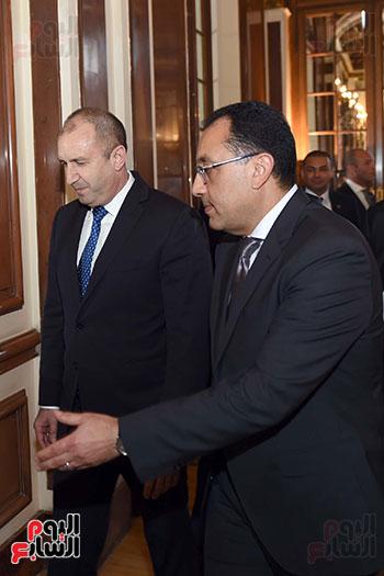 مصطفى مدبولى رئيس مجلس الوزراء ورومن راديف الرئيس البلغارى (4)