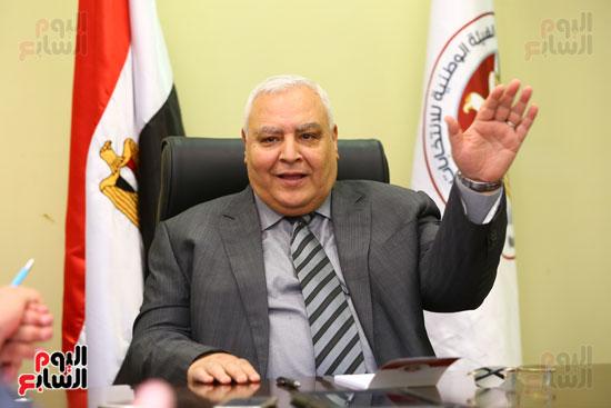 المستشار لاشين إبراهيم رئيس الهيئة الوطنية للانتخابات  (2)