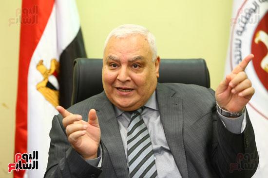 المستشار لاشين إبراهيم رئيس الهيئة الوطنية للانتخابات  (5)