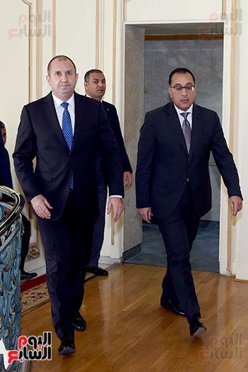 مصطفى مدبولى رئيس مجلس الوزراء ورومن راديف الرئيس البلغارى (12)