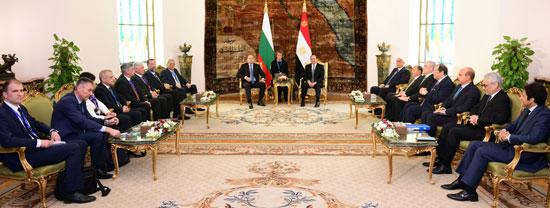الرئيس عبد الفتاح السيسى مع نظيره البلغارى (8)