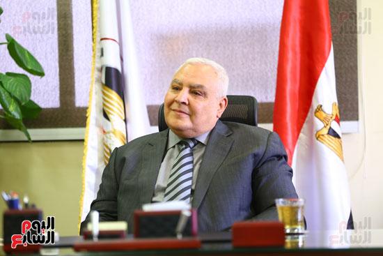 المستشار لاشين إبراهيم رئيس الهيئة الوطنية للانتخابات  (15)